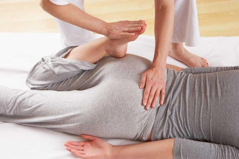 trattamento Shiatsu schiena e gamba